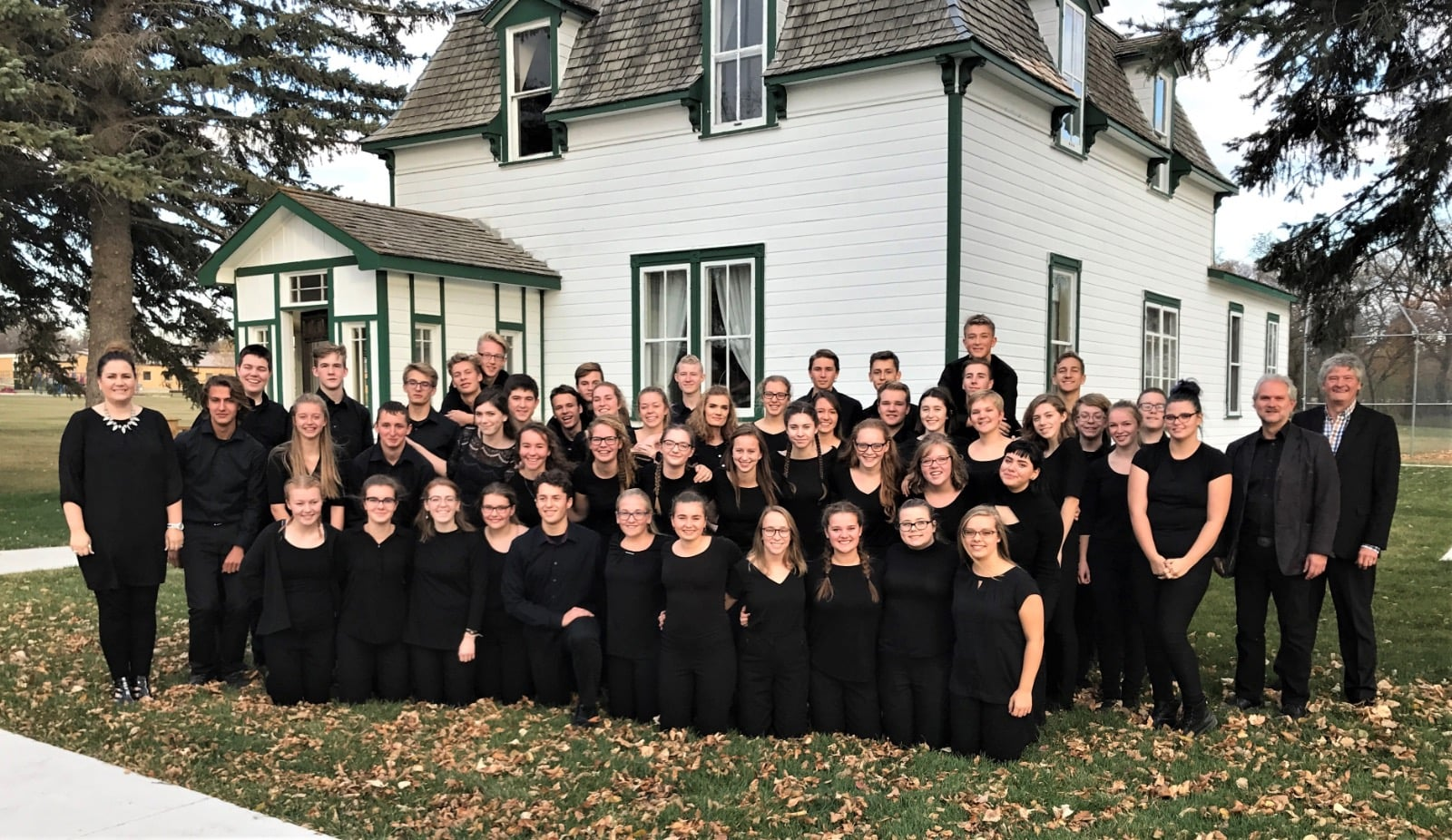 The Central Manitoba Youth Choir took time to visit in late 2017.